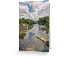 River Cher, Chenonceau, Brittany, France Greeting Card