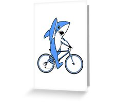 Bicycle Riding Left Shark  Greeting Card