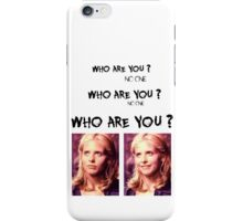 Buffy - Who are you - coloured Black iPhone Case/Skin
