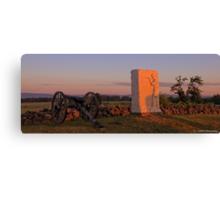 Sunrise on Cemetery Ridge Canvas Print