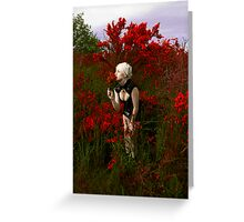 Scent of Red Greeting Card