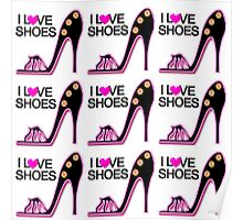 PASSIONATE PINK SHOE LOVER DESIGN Poster