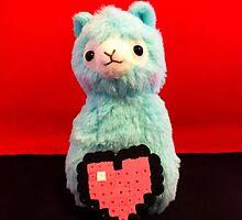 Blue Alpaca Valentines by FendekNaughton