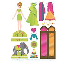 Paper Doll No.1 Photographic Print
