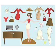 Paper Doll No.2-Me Photographic Print