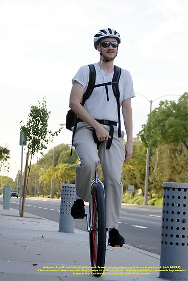 One person, one wheel, commuting to and from work can help change the cycle of our environment La Mirada, CA USA 9/29/08, (448 Views as of 5-25-11) by leih2008