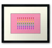 Love Is All Around IV ... and it is pink! Framed Print