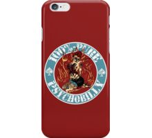 Psychobilly Girl - blue iPhone Case/Skin