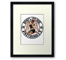 Psychobilly Girl - white Framed Print
