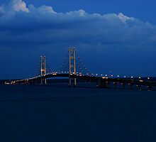 Sundown at Mackinaw by John Absher