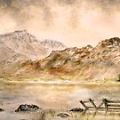 Blea Tarn and Langdale Pikes by Colin Cartwright