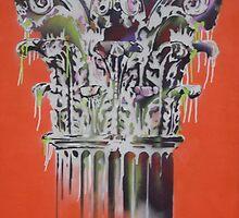 Corinthian Column ( colour) By Charles Dada by Charles Dada