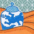 Dragon vase by John Grundeken