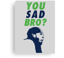 You Sad Bro? Richard Sherman Canvas Print