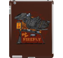 Ride the Firefly w/ Brown Background iPad Case/Skin