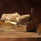 still life with books by pucci ferraris