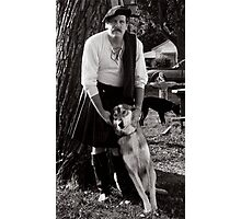 Harold and Shylowe the Wolf Photographic Print