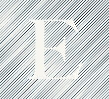 Striped E by DLUTEDDESIGN