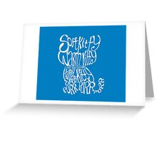 Soft Kitty Warm Kitty - white Greeting Card