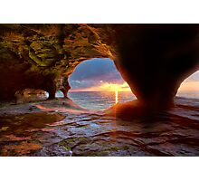 Sea Cave on Lake Superior Photographic Print
