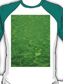 Green Emerald Water - Color Background and Texture T-Shirt