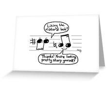 Musical Compliments Greeting Card