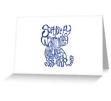 Soft Kitty Warm Kitty - blue Greeting Card