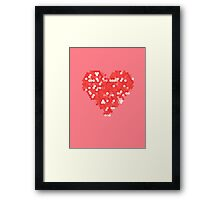 Pixel Love Framed Print