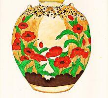 Poppy Pot by cafelatte21