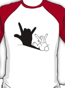 Rabbit Love Hand Shadow T-Shirt