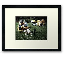 All-Action-Man Framed Print