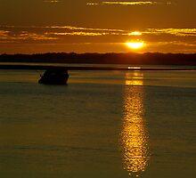 Sun Down across the Estuary by Biggzie