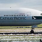 Cathay Pacific 777 Nose Shot at Manchester by PlaneMad1997
