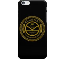 Kingsman the tailors - black and gold iPhone Case/Skin
