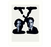 X-FILES - Scully & Mulder Art Print