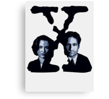 X-FILES - Scully & Mulder Canvas Print