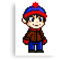 Stan Marsh Pixel Canvas Print