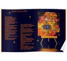 God Canvas Sky Fractal 1 Poster