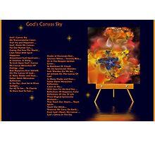 God Canvas Sky Fractal 1 Photographic Print