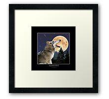 CELESTIAL WOLF II & POEM Framed Print