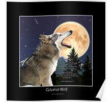 CELESTIAL WOLF II & POEM Poster