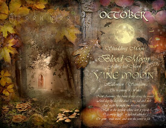 October - Vine Moon by Angie Latham