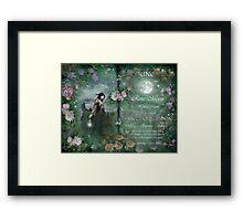 June : Hawthorn Moon Framed Print