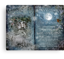 December : Reed/Elder Moon Canvas Print