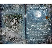 December : Reed/Elder Moon Photographic Print