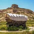 Covered Wagon at Scotts Bluff National Monument by Sue Smith