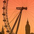 Big Ben and London Eye (Alan Copson © 2008) by Alan Copson