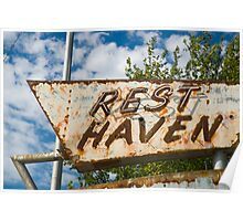 Route 66. Afton. Old Rest Haven Motel sign. (Alan Copson © 2007) Poster