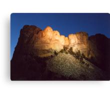 Mt. Rushmore at Dusk Canvas Print