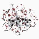 Barbed Skulls by RockHouseCo